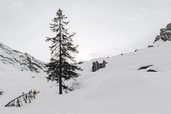 Genug Schnee, Dolomiten