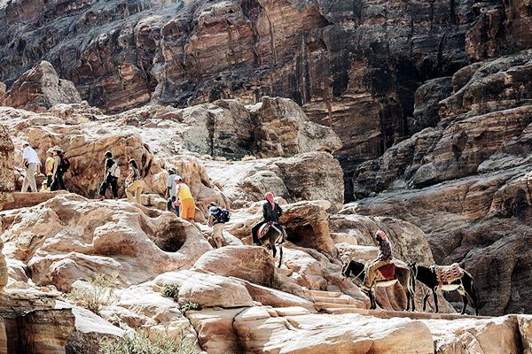 Weg nach Petra, Jordanien