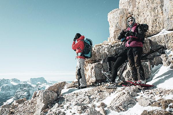 uß des Gipfelaufbaus Heiligkreuzkofels, Dolomiten