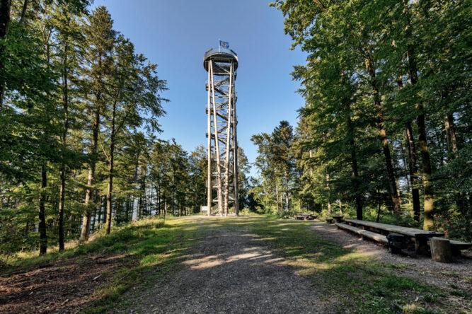 Der Aussichtsturm am Urenkopf im Nationalpark Schwarzwald, Deutschland