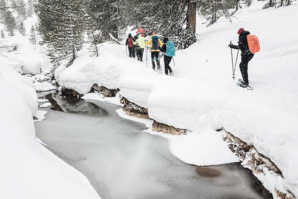 Winterliche Landschaft, Dolomiten