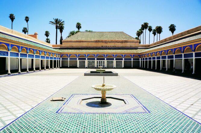 Bahia Palast in Marrakesch, Marokko