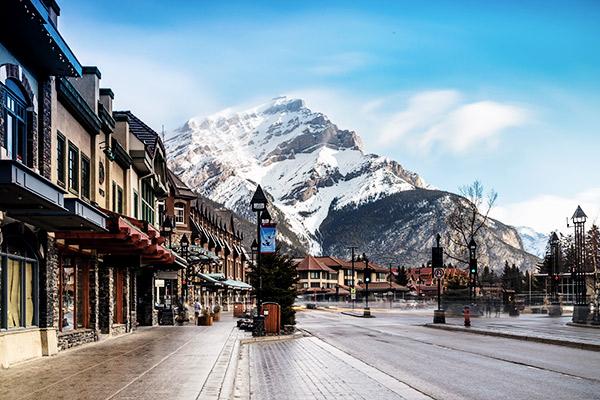 Städtchen Banff in Kanada
