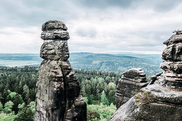 Barbarine Felsnadel in der Sächsischen Schweiz, Deutschland