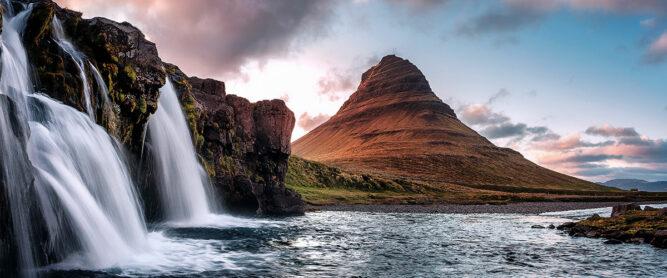 Berg Kirkjufell auf Islands Halbinsel Snaefellsness
