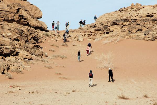 Wandern Wadi Rum, Jordanien