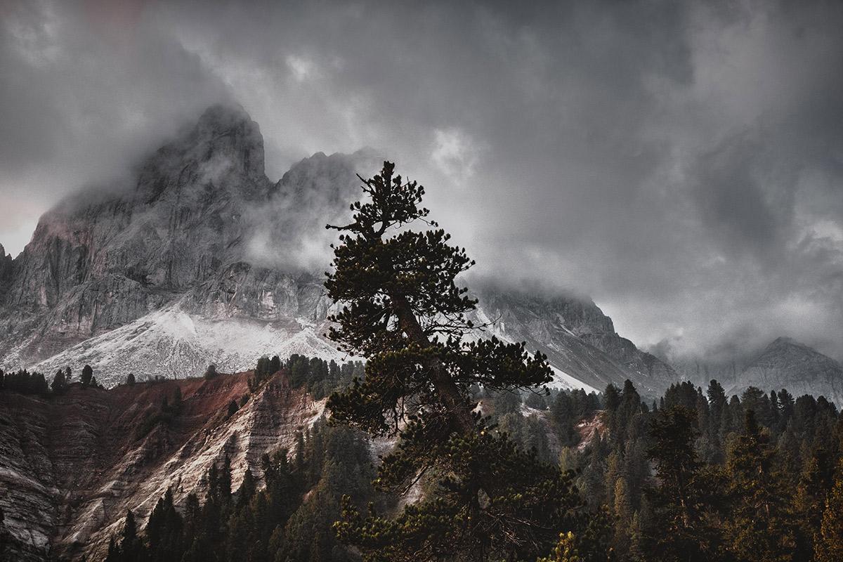 Gewitter in den Bergen in Südtirol