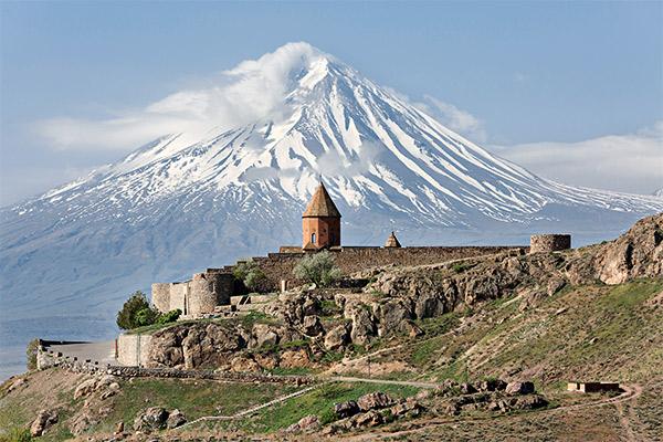 Blick zum Ararat, Armenien
