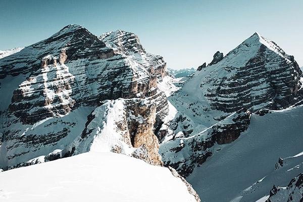 Blick am Monte Castello, Dolomiten