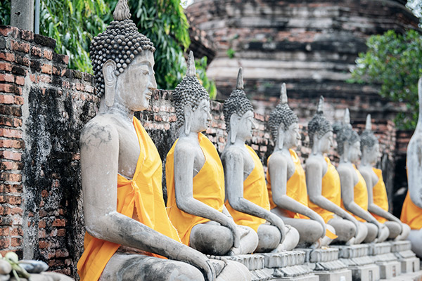 Buddha Statuen in Ayutthaya, Thailand
