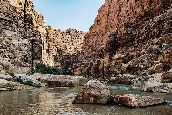 Canyon Wadi Mujib, Jordanien