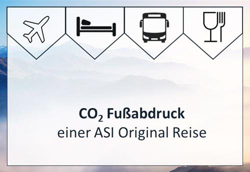 Logos zur Berechnung des CO2 Abdrucks bei ASI Reisen, Tirol.