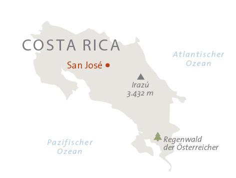 Costa Rica Landkarte