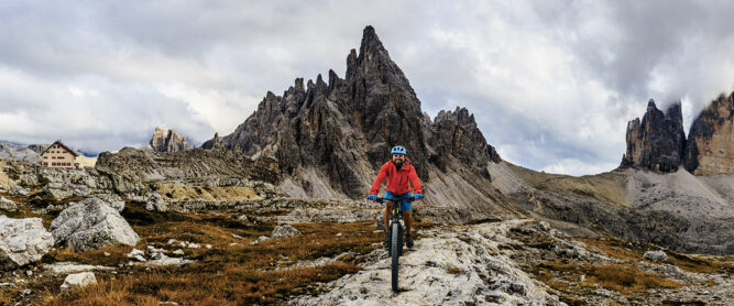 Mountainbiking in den Dolomiten