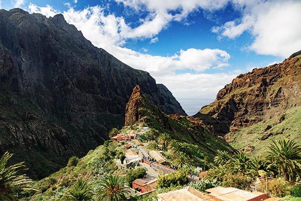 Dorf Masca im Teno Gebirge, Teneriffa