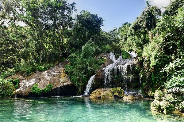 El Nicho Wasserfall im Topes de Collantes, Kuba