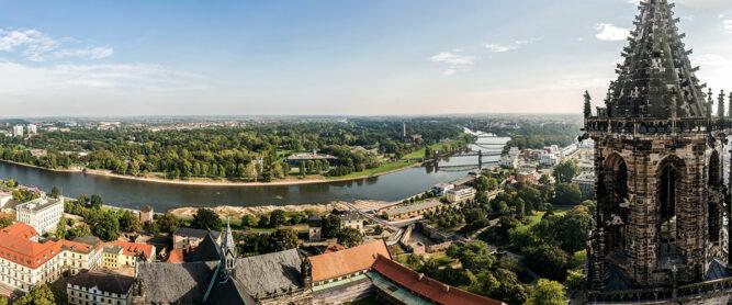 Blick auf Magdeburg