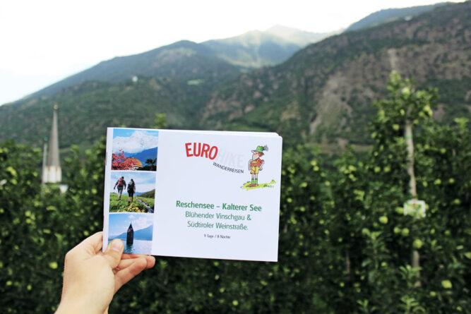 Karte von Eurohike mit 9 Tagestour