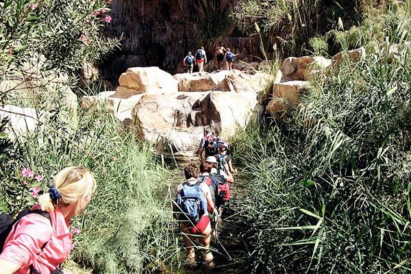 Wanderer Wadi Mujib, Jordanien