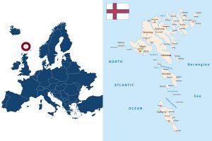 Faröer Insel Karte