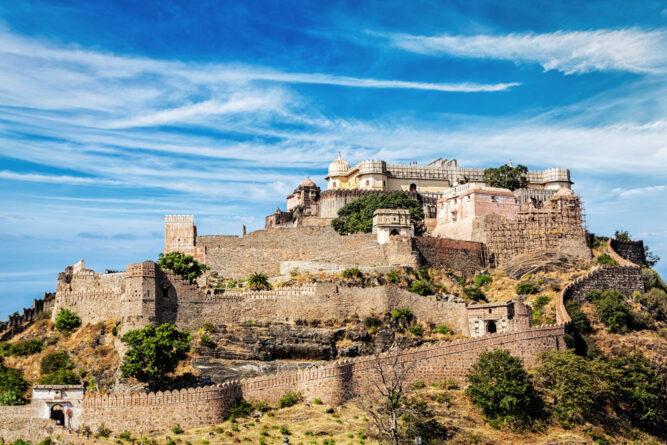 Die Festung Kumbhalgarh in Rajasthan