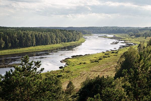 Fluss Daugava, Lettland