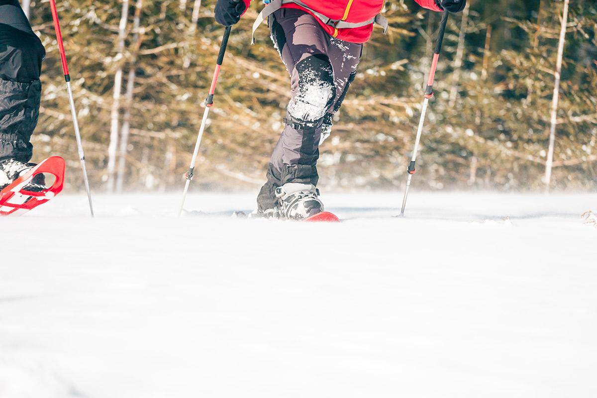 Gamaschen als Schutz gegen den Schnee