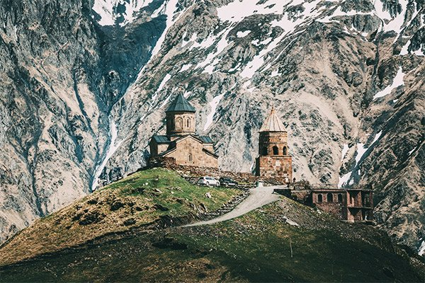 Gergeti Kloster, Georgien