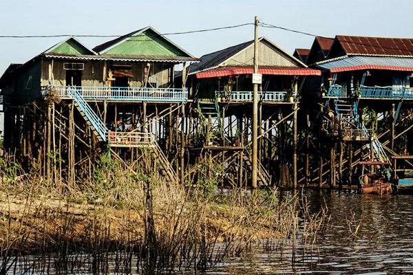 Häuser auf Stelzen, Sap Kambodscha