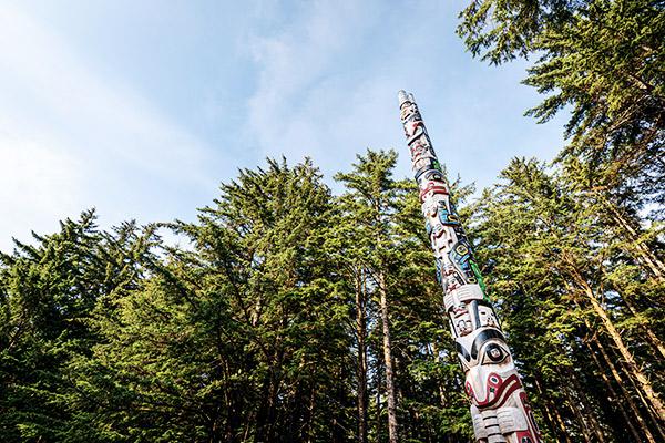 Totempfähle der Haidas, Haida Gwaii, British Columbia