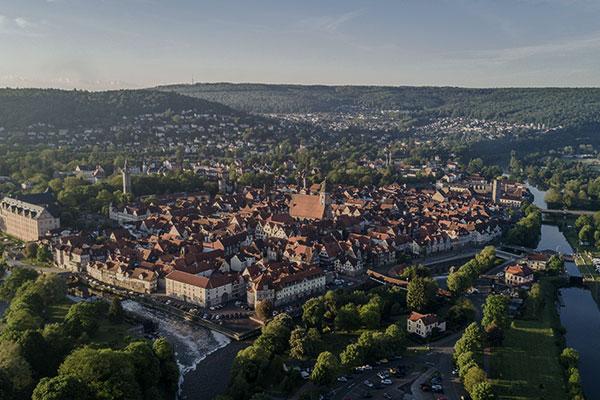 Blick auf die Stadt Hann. Münden