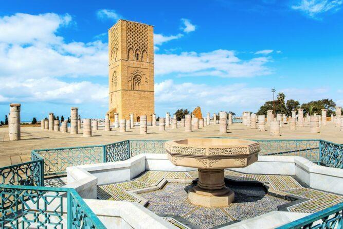 Hassanturm in Rabat, Marokko.