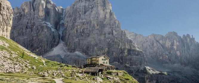 Refugio im Brenta Gebirge