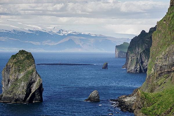 Küste der Insel Heimaey, Archipel Vestmannaeyjar