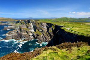 Blick auf die Kerry Cliffs in der Grafschaft Kerry.