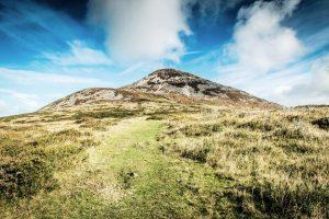 Blick auf die Wicklow Mountains, Irland.
