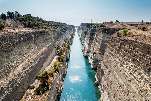 Kanal Korinth, Peloponnes Griechenland