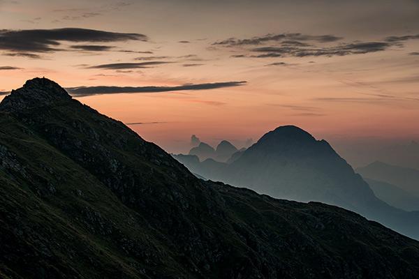Sonnenaufgang in Tirol