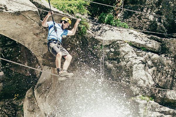 Klettersteig, Seilbruecke Oetztal
