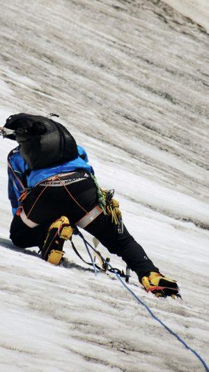 Bergsteiger mit Steigeisen, Hohe Tauern