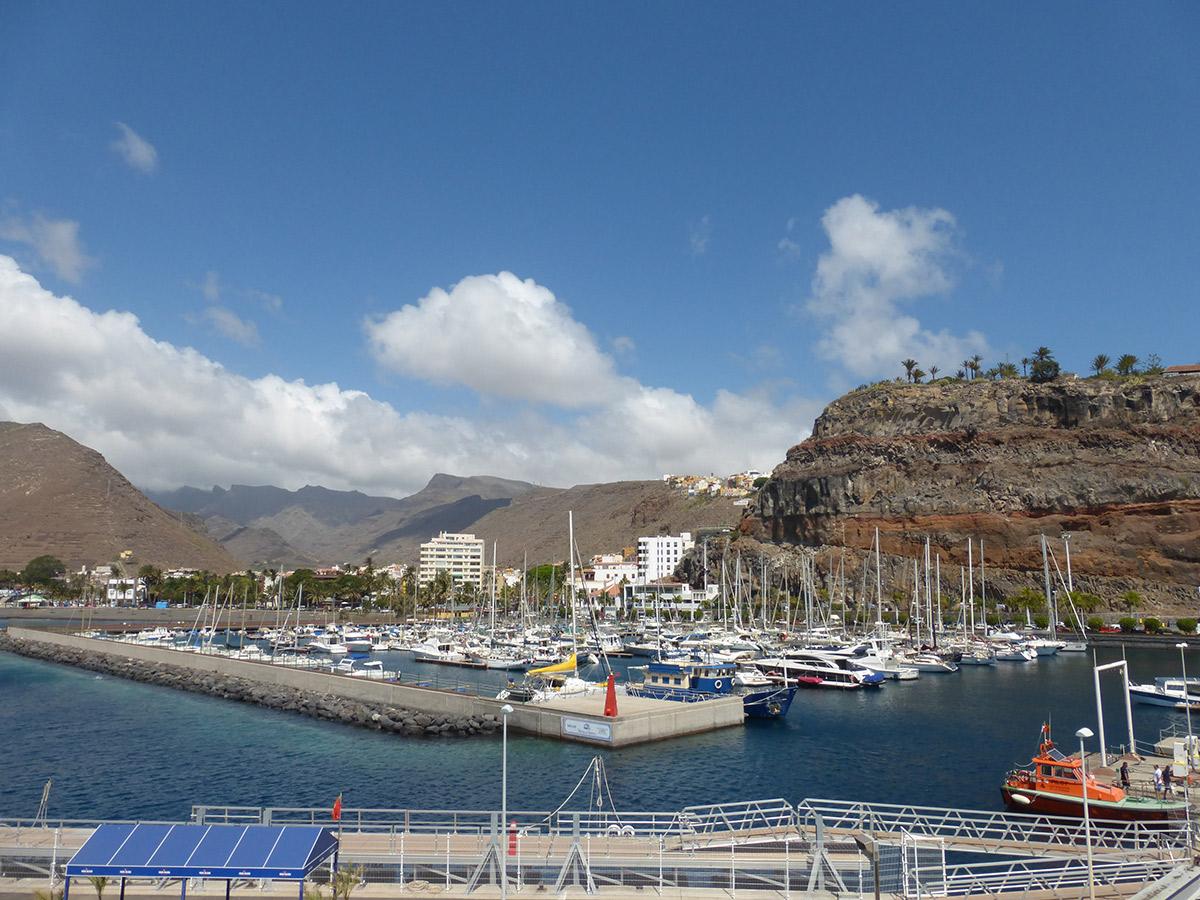 Ankunft im Hafen von San Sebastian de La Gomera