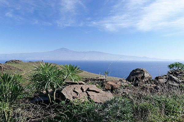 Ausblick von La Gomera zum Teide, Teneriffa