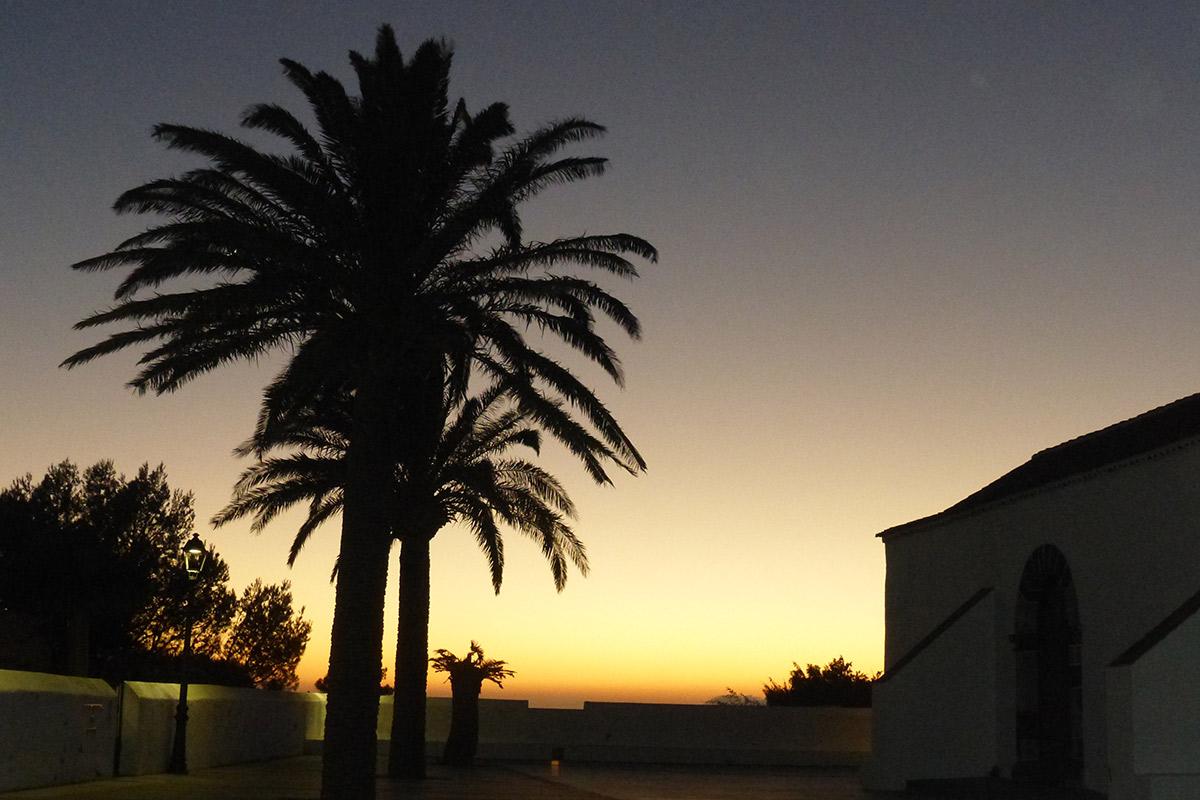 Sonnenuntergang bei Chipude