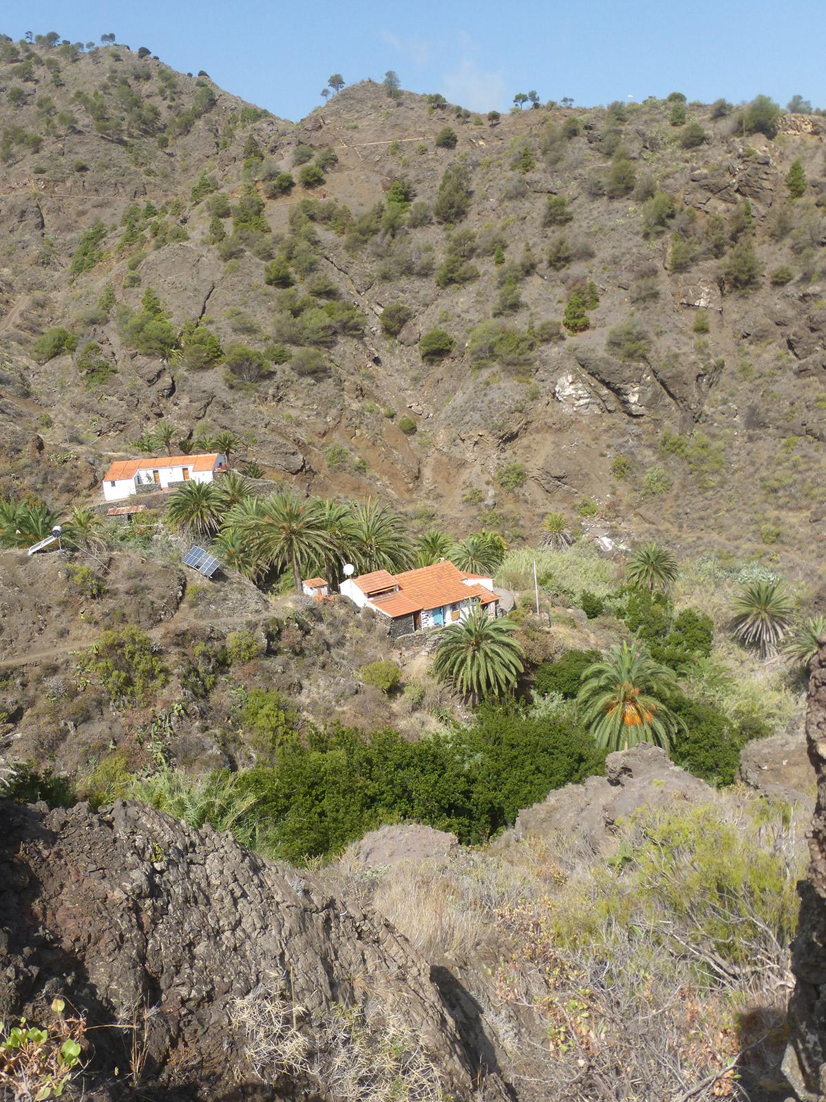 Wanderung um Hermigua, Haus bei Moralito