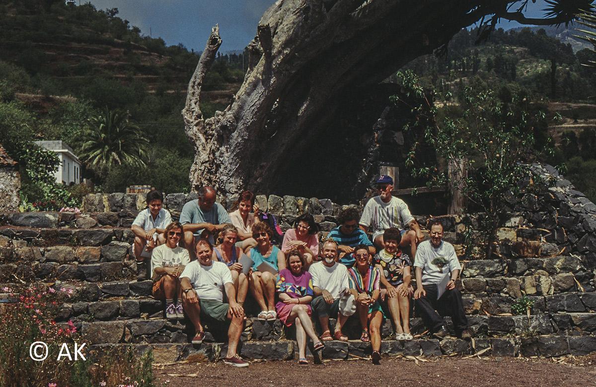 Gruppe auf La Palma