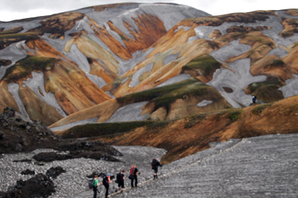 Berge von Landmannalaugar