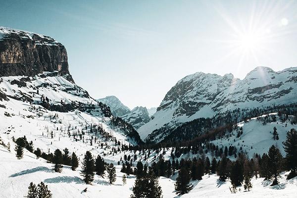 Sonnenschein, Monte Castello Dolomiten