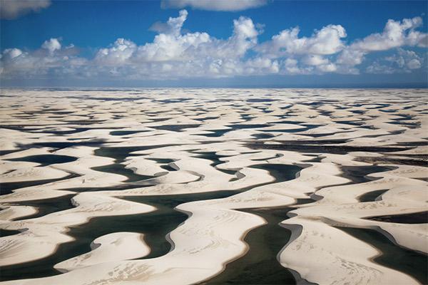 Phänomen Lencois Maranhenses Nationalpark, Brasilien