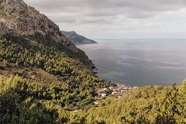 Blick auf Llucalcari, Mallorca