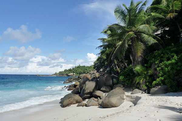 Strand Anse Capucins auf Mahé, Seychellen